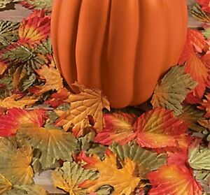1000 Fall Leaves Autumn Wedding Party Decor Lot Table Aisle Thanksgiving Craft