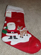New Pottery Barn Kids Quilted Stocking Rudolph The Red-Nosed Reindeer Christmas