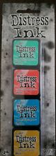 Tim Holtz Distress Mini Ink Pads 4/Pkg-Kit 13, TDPK-46738