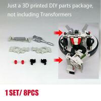 8pcs/set 3D DIY upgrade KIT FOR War Cybertron EarthRise WheelJack Blakc & Red