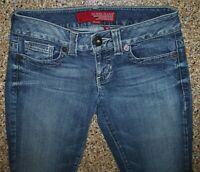 Women's GUESS Daredevil Flare Boot Cut Stretch Blue Jeans Actual size 29W x 32L