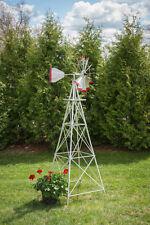 8 Ft Hand Made in the USA! Aluminum Garden Windmill