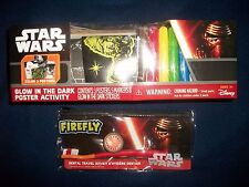 Star Wars Glow in the Dark Poster Activity Kit 3 Posters Sticker Plus Dental Kit