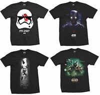 Star Wars Mens T Shirts New Short Sleeve Official Rogue One Force Awakens UK