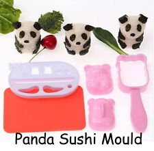 Panda Sushi Mould Maker Press Rice Ball Mold Bento Cutter Healthy Kids Lunch