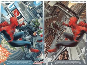 Spider-Man Set by Amien Juugo Screen Print Poster Art Marvel