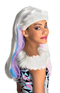 Monster High Abbey Bominable Child Wig Headpiece Disguise Party Halloween