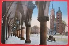 Poland Krakow Litho View Postcard 1910s Wniebowzięcia Najświętszej Panny Marii