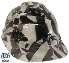 New listing Hard Hat Cap Style High Gloss Midnight Flags 6 Point Ratchet Suspension