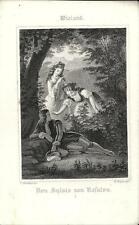 Stampa antica WIELAND Don Sjlvio von Rosalva I 1860 Old antique print Alte stich