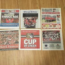 Chicago Blackhawks Newspapers (6) Stanley Cup 2010 2013 2015 Patrick Kane