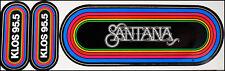 Santana Vintage 80's Klos Rainbow Concert Bumper Stickers La Radio