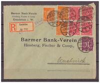 Deutsches Reich, Einschreiben MiF KGS Emsdetten nach Osnabrück 03.12.1922