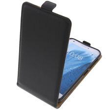étui pour ZTE Blade a512 à Clapet Housse portable COQUE HOUSSE FLIP CASE Noir