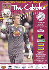 2011/12 NORTHAMPTON TOWN V HEREFORD UNITED 25-10-2011 League 2
