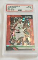 2018 PANINI PRIZM RED ICE #175 PAUL PIERCE  PSA 10 !! MINT !!! HOT HOT 💥💥