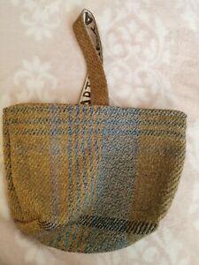 ANTA Duncan Macgillivray Mini Tote Carpet  Bag. Scottish Wool Tweed