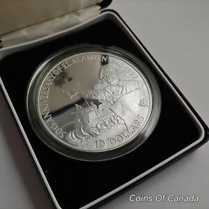 1992 Belize 5 oz Silver $10 50th Anniv. Of El Alamein 1942-1992  #coinsofcanada