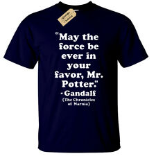 MAY THE FORCE BE WITH YOU MR POTTER T-Shirt harry mens gandalf rings narnia lord