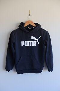 Boys youth Puma Pullover hoody 11-12yrs Black
