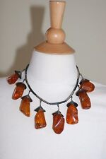 GORGEOUS NATURAL BALTIC honey  AMBER   designer NECKLACE