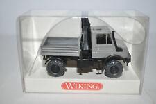 Wiking 0647 03 UNIMOG U 1850 w/Crane (Gray Color) for Marklin- NEW w/BOX