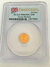 2012 quarter Sovereign Proof gold coin PCGS PR69 DCAM