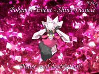Shiny Diancie 6IV - Pokemon X/Y OR/AS S/M US/UM Sword/Shield