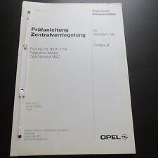 Opel Omega B Werkstatthandbuch Prüfanleitung ZV Zentralverriegelung ab 1996