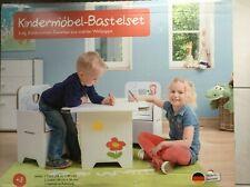 Kinder Möbel Bastelset Möbel Tisch 2 Stühle aus Pappe zum Basteln und bemalen