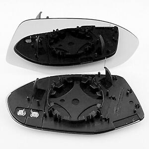 Heated Wide Angle Wing Mirror Glass With Base For Audi A7 Fits to 2011-2017 RHS