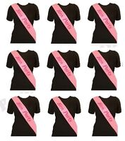 10 x DELUXE PINK HEN PARTY SASH FANCY DRESS HEN NIGHT LADIES BLING GLITTER