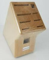 New Sealed Wusthof 9 Slot Knife Storage Block Hardwood Natural Finish 7250