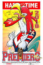 HARV TIME 2018 NRL PREMIERS POSTER - SYDNEY ROOSTERS LIMITED EDITION
