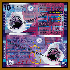 Hong Kong 10 Dollars, 2007 P-401b Polymer Unc