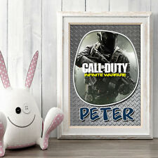 CALL OF DUTY Personalised Poster A5 Print Wall Art Custom Name ✔ Fast Delivery ✔