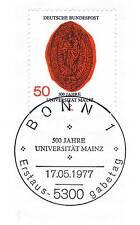 BRD 1977: Universität Mainz Nr. 938 mit Bonner Ersttags-Sonderstempel! 1A! 153