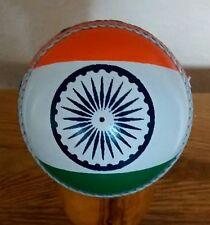 INDIAN Bandiera Design Vera Pelle Palla da Cricket, taglia senior @ £ 10.95p - fantastico regalo