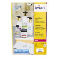 Avery TRANSPARENT ADDRESS LABELS 22x12.7mm 25-Sheets 1200-Lebels Self-Adhesive
