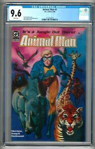 Animal Man #1 (1988) CGC 9.6  White Pages Morrison - Bolland - Truog - Hazlewood