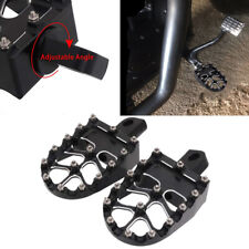 Black CNC Wide Foot Pegs Footrest Stud Pedal for Dyna Sportster Iron 883 Fatboy