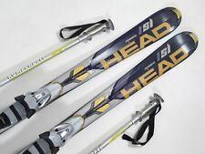 Head i.SL Worldcup Slalom Ski 160cm Carver + Bindung + 115cm Stöcke (AS234)