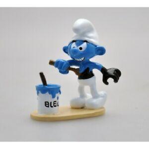 Figurine Le Schtroumpf noir se peignant en bleu - PEYO - Pixi - 06461