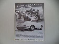 advertising Pubblicità 1990 OLDTIMER SERVICE e PORSCHE 356 C