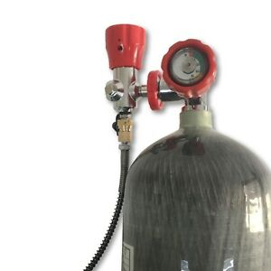 PCP Rifle Hunting 6.8L CE 4500psi Carbon Fiber Hpa Tank Scba Cylinder Kits