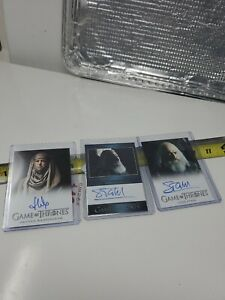 3 Game Of Thrones  Autograph Trading Cards