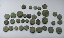 More details for lot of 35 uncleaned ancient greek bronze coins 300-200 b.c.