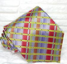 Cravatta tartan, top quality, Nuova, Made in Italy, 100% seta, realizzata a mano