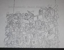 1984 Takara Transformers TV Magazine Internal Art Copy Autobot Group