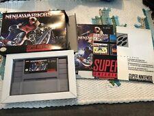 Ninja Warriors (Super Nintendo SNES) Complete CIB!! Box Manual Rare!